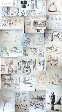 S bahn, Zeichnung, Buch, Skizze