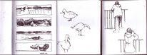 Tegel, Skizze, Ente, Wasser