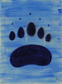 Malerei, Figural, Spuren, Acrylmalerei