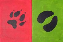 Spuren, Tiere, Abstrakt, Tierspuren