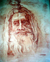 Kunsthandwerk, Portrait, Holz, Holzschnitt