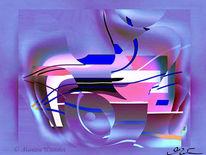 Violett, Abstrakt, Traum, Digital