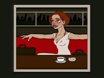 Kaffee, Cafe, Diner, Spiegel