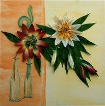 Lilie, Blumen, Bunt, Malerei