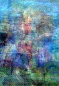 Digital, Schubsen, Abstrakt, Pixel