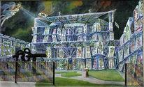 Gegenwartskunst, Fantastische malerei, Europäische union, Moderne architektur