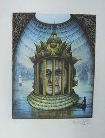 Abensberg, Karikatur, Lithografie, Pantheon