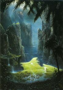 Felslandschaft, Märchen, Sagen, Wasserfälle