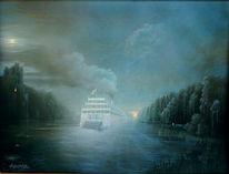 Wasser, Malerei, Flußfahrten, Landschaft