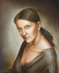 Malerei, Figural, Ölmalerei, Portrait