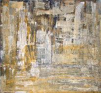 Braun, Malerei, Abstrakt, Ocker