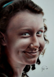 Airbrush, Portrait, Malerei,