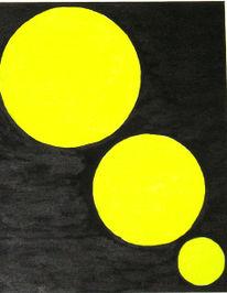 Schwarz, Gelb, Acrylmalerei, Malerei