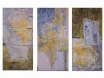 Pastellmalerei, Abstrakt, Farben, Gelb