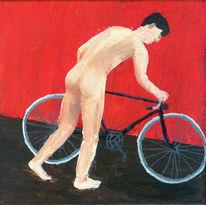 Fahrrad, Malerei, Akt fahrrad, Figural
