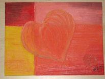 Herz, Bunt, Warm, Malerei
