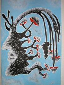 Menschen, Pilze, Psychoaktiv, Malerei