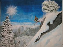 Winter, Schnee, Skifahren, Weh