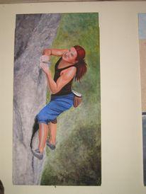 Klettern, Bergsport, Malerei, Figural