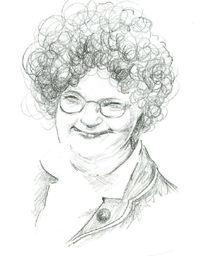 Zeichnung, Portrait, Bleistiftzeichnung, Frau