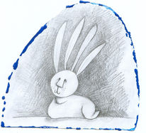 Hase, Surreal, Vier, Ohr