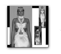 Mode, Art deco, Brautkleid, Design
