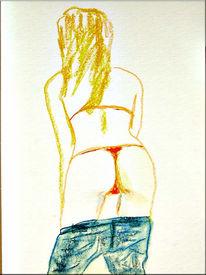 Malerei, Figur, Zeichnung, Pastellmalerei