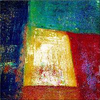 Acrylmalerei, Gemälde, Farben, Spachtel