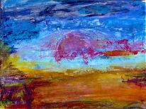 Acrylmalerei, Malerei, Spachtel, Spachteltechnik