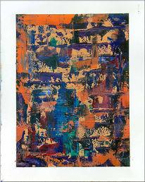 Spachteltechnik, Acrylmalerei, Farbr, Abstrakt