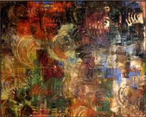 Spachtel, Baumwolle, Abstrakt, Farben