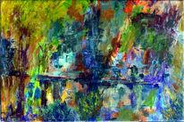 Malerei, Spachtel, Acrylmalerei, Spachteltechnik