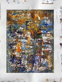 Abstrakt, Malerei, Modellier, Acrylmalerei