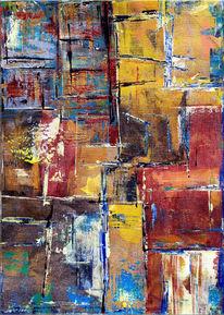 Farben, Abstrakt, Spachtel, Acrylmalerei