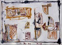 Abstrakt, Zeichnung, Acrylmalerei, Malerei