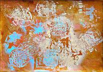 Mischtechnik, Ammonit, Malerei, Acrylmalerei