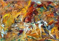 Acrylmalerei, Malerei, Spachteltechnik, Abstrakt