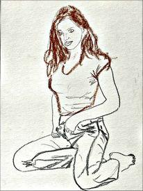 Pastellmalerei, Zeichnung, Skizze, Figur
