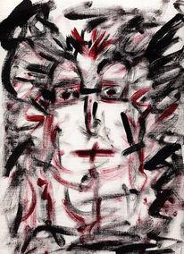Zeichnung, Skizze, Schweigen, Emotion