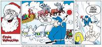 Glückwunschkarte, Weihnachten, Comic, Zeichnung