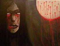 Mond, Frau, Gesicht, Malerei