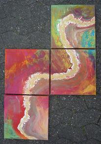 Zauber, Farben, Acrylmalerei, Linie