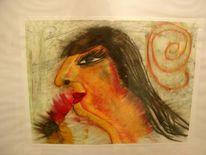Frau, Figural, Kopf, Malerei