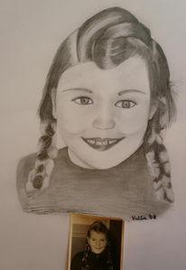 Bleistiftzeichnung, Portrait, Mutter, Zeichnung