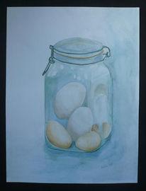 Ei, Glas, Aquarellmalerei, Malerei