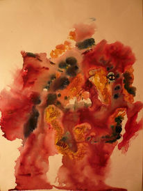 Schrei, Aquarellmalerei, Elefant, Tiere
