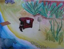 Sonne, Acrylmalerei, Boris, Landschaft