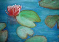 Blumen, Acrylmalerei, Wasser, Rose