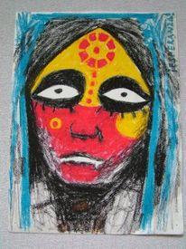 Augen, Gesicht, Malerei, Menschen