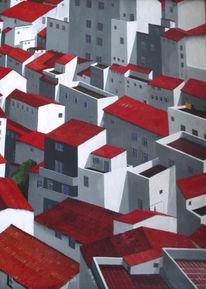 Häuser, Rot, Andalusie, Weiß